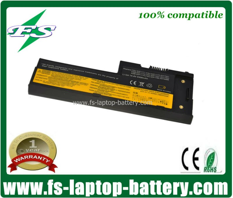 4cells Replacement Laptop battery for laptops Lenovo X60,X61 series