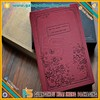 New design red hard cover fuzzy diary book design with lock
