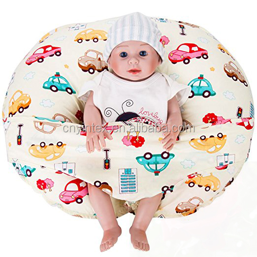 Two Sides Pocket Design U Shaped Baby Feeding Nursing Pillow and Baby Hardness Positioner