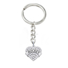 Fashion heart charms sport jewelry hockey letter keychain