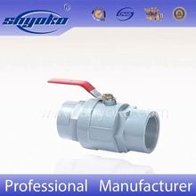 low price two pieces threaded ball valve with stainless steel handle