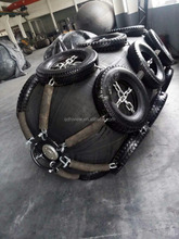 floating marine rubber inflatable fender with Galvanized Chain and Tire