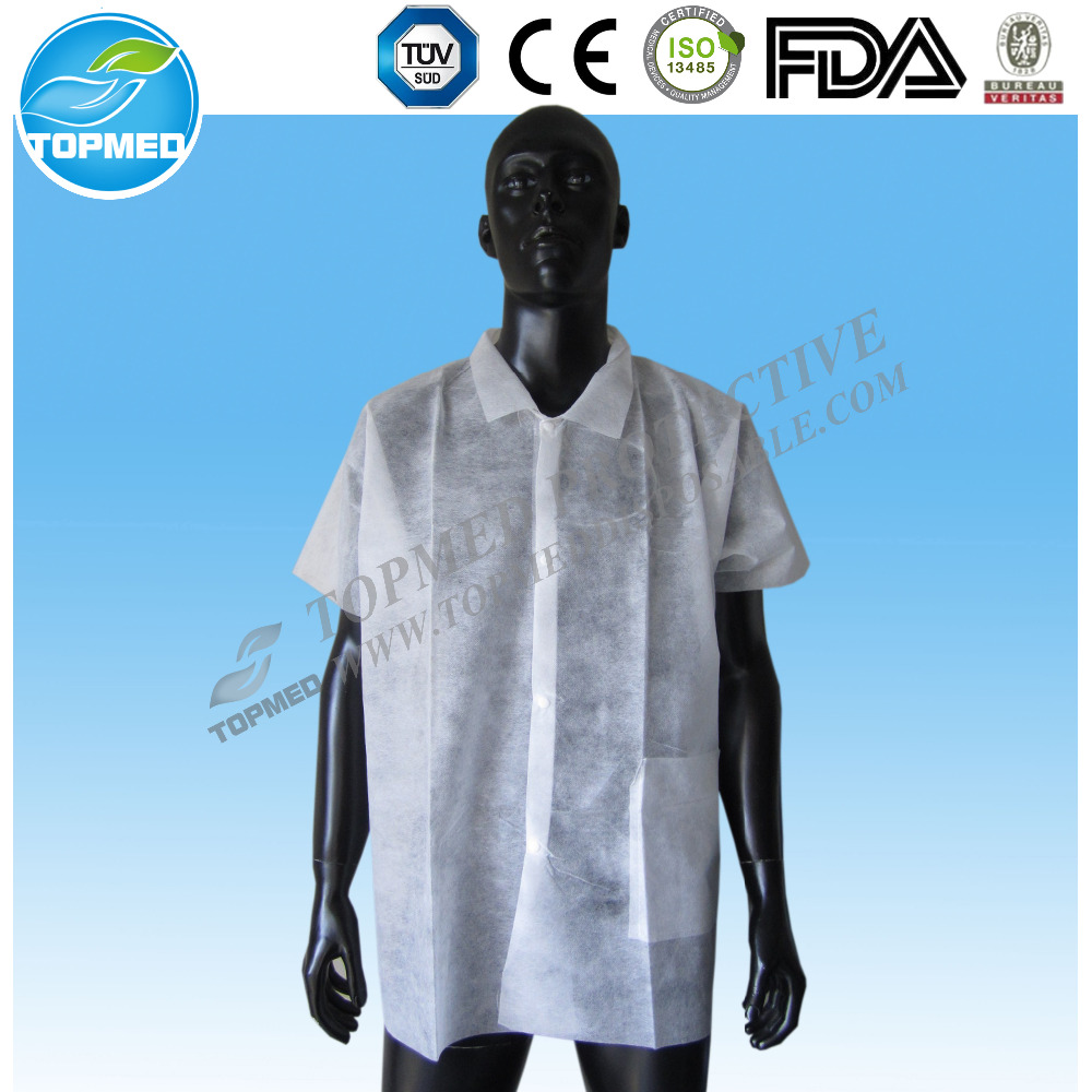 lab coat/nurse hospital uniform designs disposable nonwoven lab coat