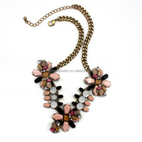 2015 top sell statement resin alloy necklace