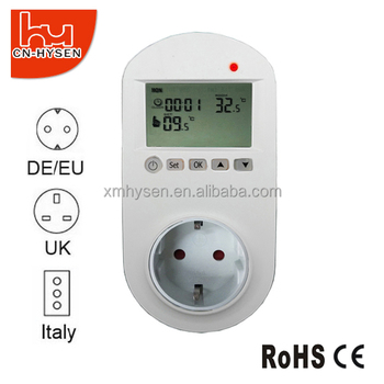 230V 16A Plug In Floor Heating Thermostat