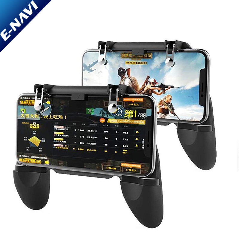 HOT SALE W10 Mobile Phone Game Controller Gamepad Joystick Fire Trigger for PUBG Fortnite