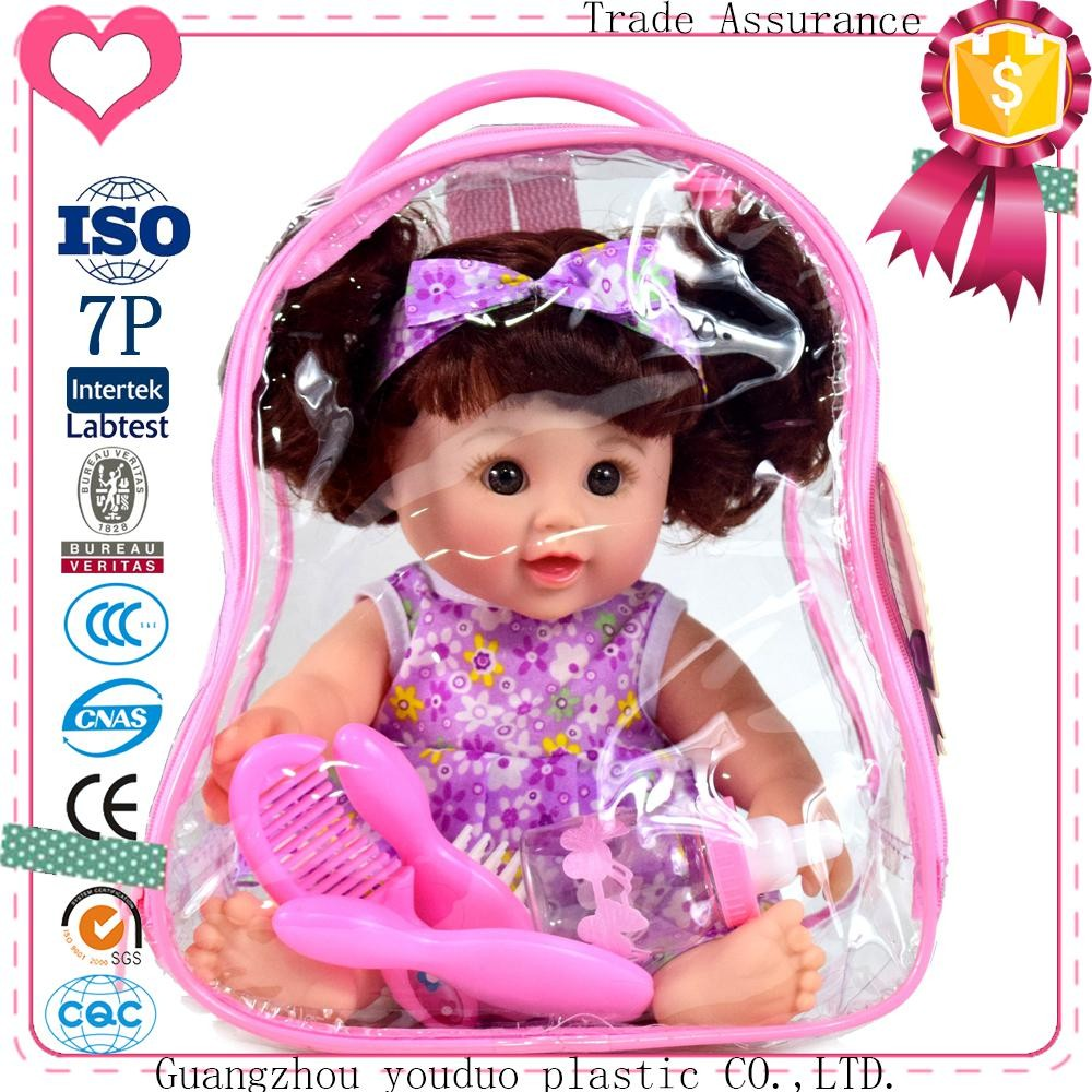 Schoolbag Doll 30cm Children's Cheap Chinese Child Love Girl Soft Dolls For Sale