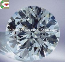 dazzling charming white clear round cz stone in low price