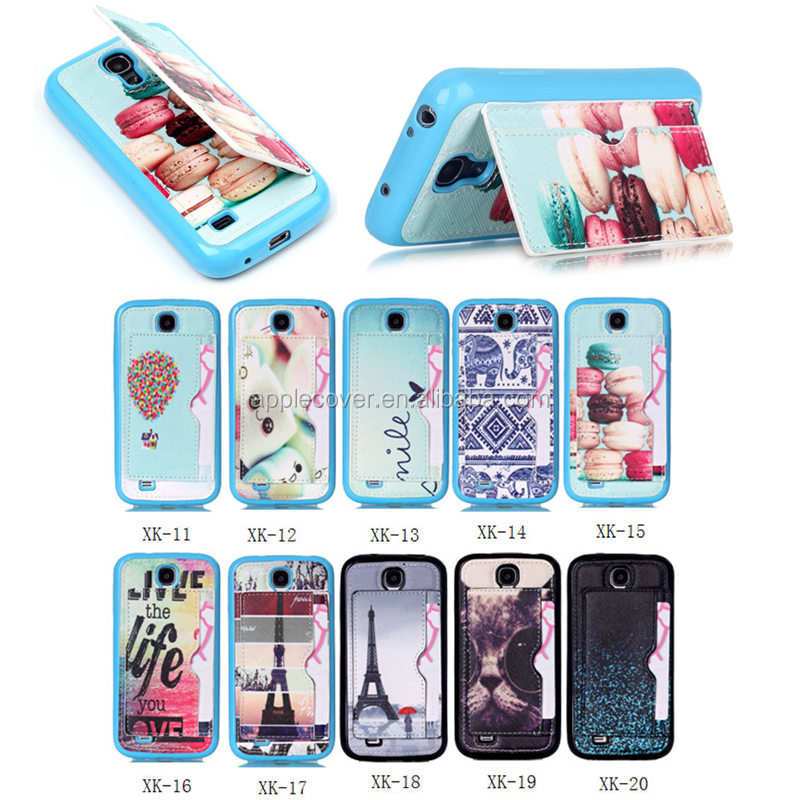 Made in China for Samsung Galaxy S4 Mini cell phone case TPU+PU , for Samsung S4 Mini case with stand