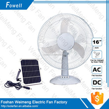 Big Wind Adjustable Industrial 12V Battery Rechargeable Table Fan 16 Inch