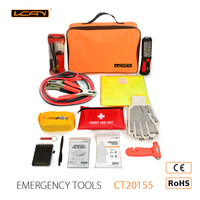 Auto Safety Emergency Kits First Aid Kit Rugged Tool Bag Contains Jumper Roadside Assistance Car Emergency Kit