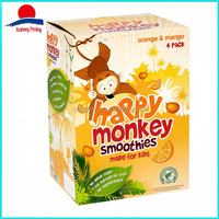 High Quality Colorful Food Packing Mango Smoothies Box For Kids