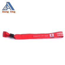 xiangxing brand Beautiful custom cloth embroidered fabric woven wristbands for event