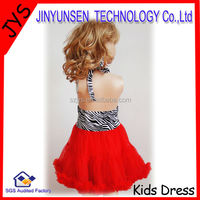 2014 high quality baby dress zebra print formal dresses