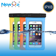 "Hot Sale IPX8 Universal PVC TPU Phone Pouch Water Sports Dry Bag Waterproof Cellphone Bag For Devices Up to 6"" iPhone 8"
