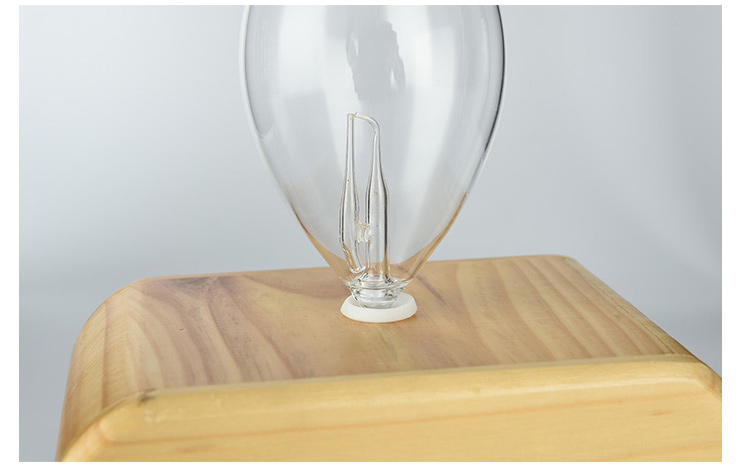Aroma Diffuser produced with wood & handmade glass, with LED changing color light