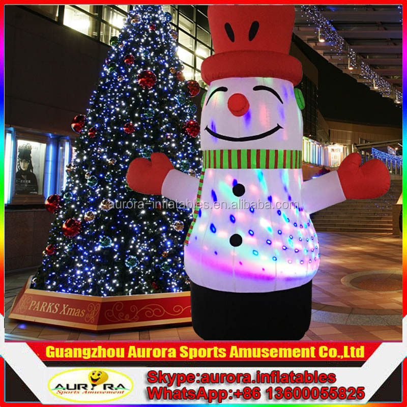 Best popular outdoor christmas decorations lighting inflatable snowman with factory price