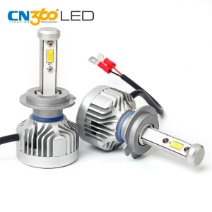 Super bright headlight bulbs 12v 24v led car h7 auto head lights for projector lens