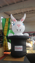 Shape Rabbit inflatable Printed Animal Mylar Helium Balloon(65cm*50cm)(self sealing balloon, requires air or helium inflation