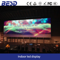 32 x 32 pixel wall mounted design indoor smd P6 led display screen