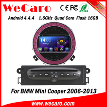 Wecaro Android 4.4.4 WIFI 3G car dvd player navigation system for bmw mini cooper 2006 2007 2008 2009 2010 2011 2012 2013