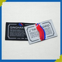 fashion customized logo design woven cloth label made in China