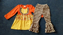 colour charming shirt with stripe remake ruffle pant cotton clothing for children
