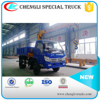 4x4 FOTON Mini 5T Tipper Dump Cargo Hydraulic Lifting Truck With Loading Crane Manufacturer