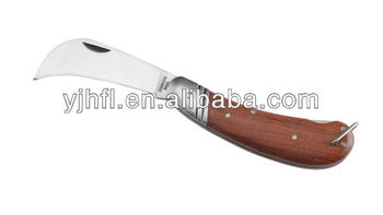 Wooden handle leaves plastic craft