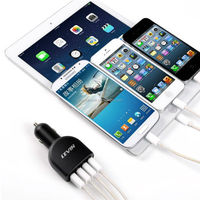 Fast charging car 5V 6.8A 4 USB Charger for Smartphone / Tablet CE FCC ROHS