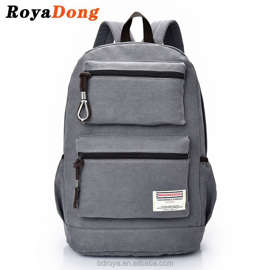 RoyaDong Men's Backpacks High Quality Vintage Canvas Man Laptop Bags Computer Bagpacks