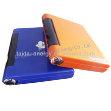 Outdoor requisites solar power bank solar charger travel charger with1w flashlight