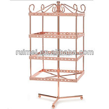 Countertop Revolving Metal Jewelry Display Shelves