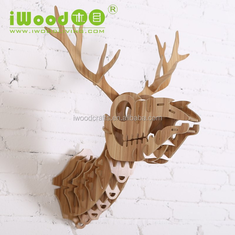 Skeleton animal wood wall art crafts, animal wall art wall decoration