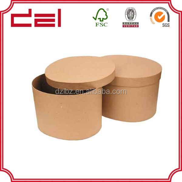 Wholesale custom round cylinder paper flower box packaging