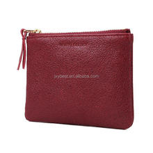 China supplier Factory Custom genuine leather small pocket coin case coin zipper bag