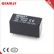 QIANJI 16A 12V Power Relay JQX-115F AC Coil And DC Coil Miniature PCB Relay