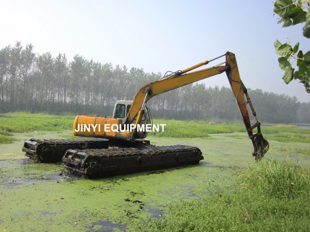 HITACHI ZX240-5A amphibious excavator with 18 meters long reach boom