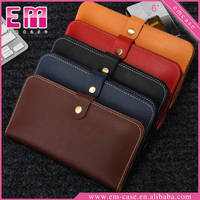 Multifunction Genuine Leather Wallet Card Case Universal Mobile Phone Holster