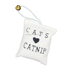 Small Toys Canvas Bag Printing Catnip Ring Pet Toys Scratch Interactive Toys For Cats