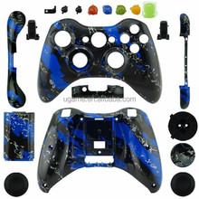 Hydro dipped Blue Splatter Shell for XBOX 360 Controller Shell Video Games Accesories