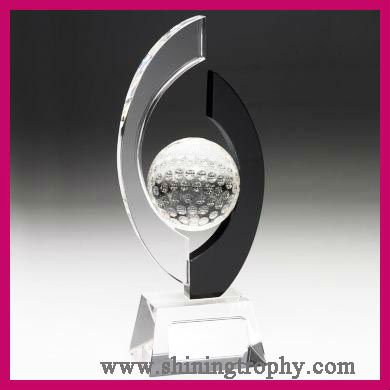 Novel crystal golf award