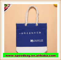China Manufacturer Fashion beach bag for promotion hot sale Cotton shopping bag Canvas tote bag with rope handle