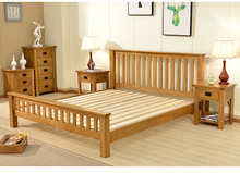 Modern Solid Wood White King Size bed frames cheap