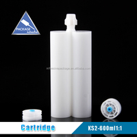 KS-2 600ml 1:1 Packaging Glass Sealant Plastic Adhesive Cartridge