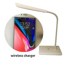 Wireless charger Led desk lamp with flexible gooseneck