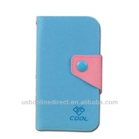 Hot selling flip wallet leather case for iphone5 with card slot, Magnet Leather Flip Case Cover For iPhone 5 5s 5c