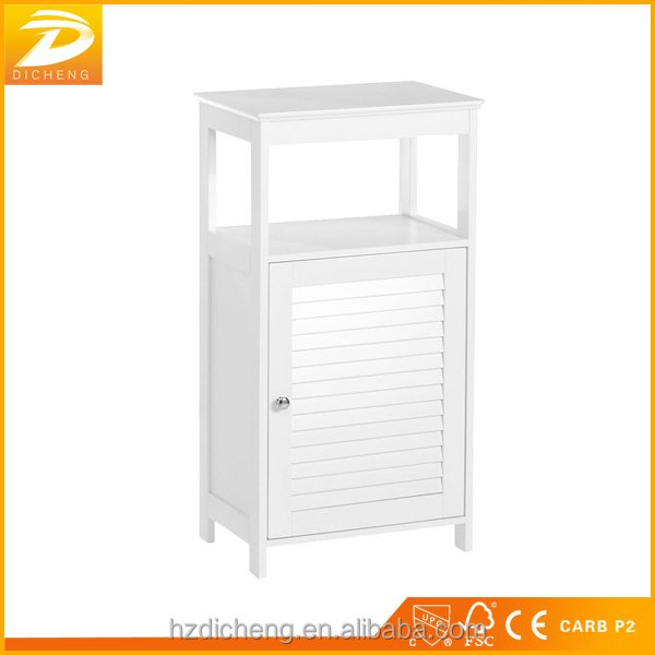 Made In China Slim Modern Bathroom Linen Side Cabinet