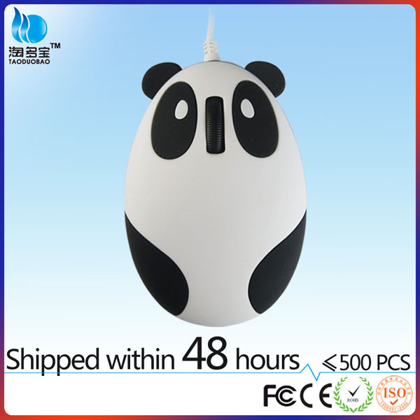 wired optical birthday gift kids 3 button pc laptop comfort high quality kids panda mouse