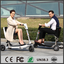 Transformable foldable tricycle electric scooter smart black and white fashion 250W 40km range Foldable mobility scooter